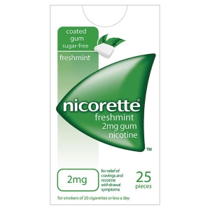 Image for Nicorette Freshmint Gum 2mg 25's