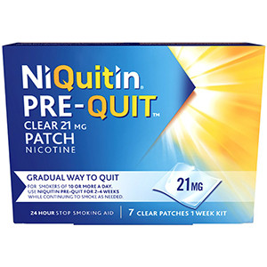 Image for NiQuitin Pre-Quit Clear patches - 21mg 7 Patches