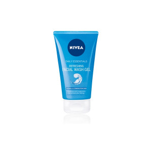 Nivea Daily Essentials Refreshing Facial Wash Gel for Normal and Combination Skin - Pack of 150ml