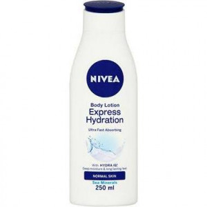 NIVEA Body Lotion Express Hydration for Normal and Dry Skin  - Pack of 250ml