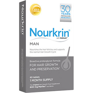 Image for Nourkrin For Men - Pack of 60 Hair Growth Tablets