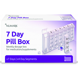 Image for Numark 7 Day Pill Box