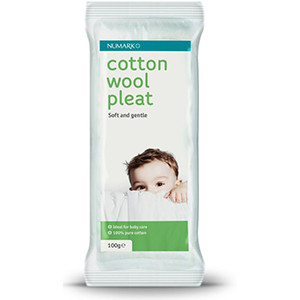 Image for Numark Cotton Wool Pleats 100g