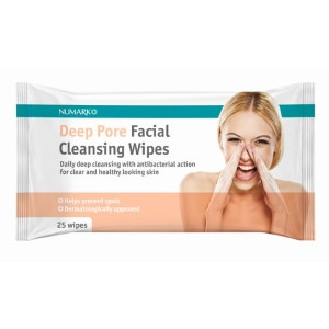 Image for Numark Deep Pore Facial Cleansing Wipes - 25 Wipes