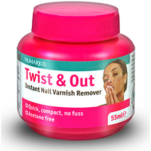 Image for Numark Twist & Out Instant Nail Varnish Remover 55ml