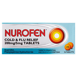 Image for Nurofen Cold and Flu 16 Tablets