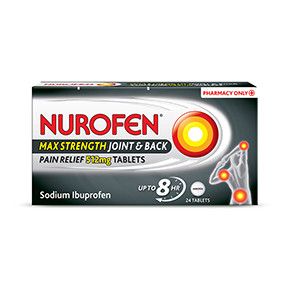 Nurofen Max Strength Joint & Back Pain Relief 24 Tablets
