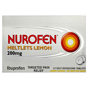 Image for Nurofen Meltlets Lemon Self-Dissolving Tablets 12 Tablets