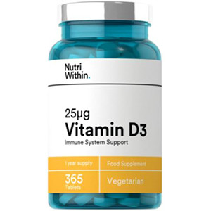 Image for Nutri Within Vitamin D3 25μg 365 Tablets (1 Year Supply)