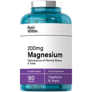Image for Nutri Within 200mg Magnesium 180 Capsules (6 Month Supply)