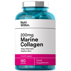 Image for Nutri Within 200mg Marine Collagen 180 Capsules (6 Month Supply)