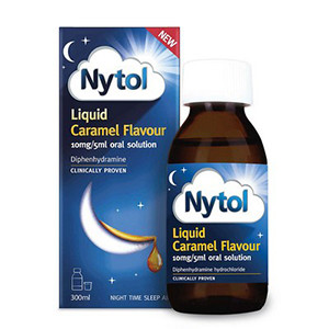 Image for Nytol Liquid 10mg/5ml Caramel Flavour 300ml