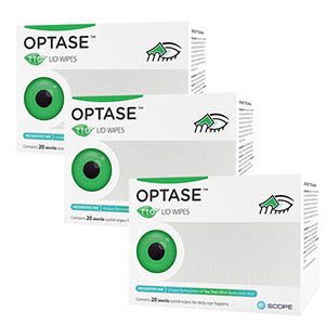 Image for TRIPLE PACK BUNDLE - Optase TTO Lid Wipes pack of 60 wipes in total