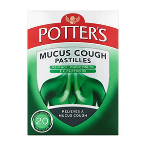 Image for Potters Mucus Cough 20 Pastilles