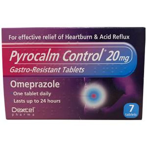 Image for Pyrocalm Control 20mg Gastro-Resistant 7 Tablets