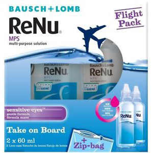 Image for ReNu Multi-Purpose Contact Lens Solution Flight Pack 2 x 60ml