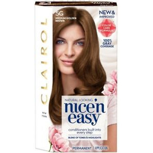 Clairol Nice'n Easy Permanent Hair Colour Natural Medium Golden Brown 5G