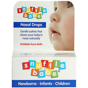Image for Snufflebabe Saline Nasal Drops 10ml
