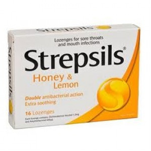 Image for Strepsils Honey & Lemon Lozenges - 16