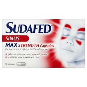 Image for Sudafed Sinus Max Strength Capsules - 16 Capsules