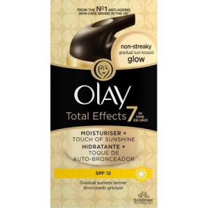 Olay Total Effects 7 in 1 Moisturiser + Touch of Sunshine SPF 12 - Pack of 50ml