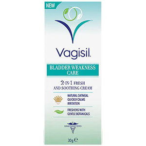 Image for Vagisil Bladder Weakness Care 2-in-1 Fresh & Soothing Cream 30g