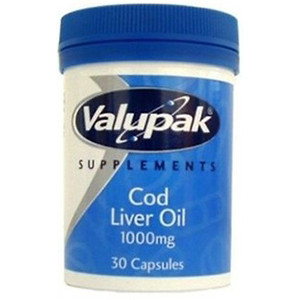 Image for Valupak Cod Liver Oil 1000mg 30 Capsules