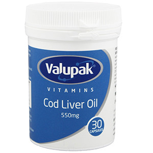 Image for Valupak Cod Liver Oil 550mg 30 Capsules