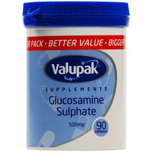 Image for Valupak Glucosamine Sulphate 500mg 90 Capsules