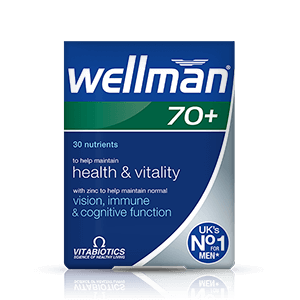 Image for Vitabiotics Wellman 70+ 30 Tablets