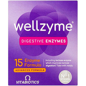 Image for VItabiotics Wellzyme Digestive Enzymes Advanced 60 Capsules