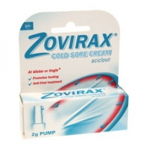 Zovirax Cold Sore Cream - 2g Pump